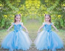 New frozen Princess Anna Elsa Queen Girls Cosplay Costume Party Formal Dress