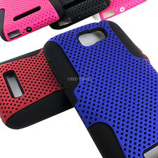 For Alcatel One Touch Fierce 2 7040T APEX Hybrid Gel Perforated Hard Case Cover