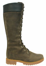 Timberland Womens Nubuck Leather 14 inch Knee High Boots Dark Green 8631A Opp D1