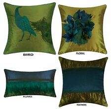 PEACOCK COLLECTION Pillow Covers, MULTI