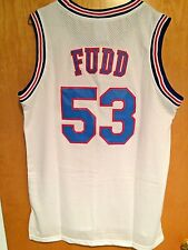 Elmer Fudd #53 Space Jam Tune Squad Basketball Jersey White S M L XL XXL