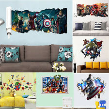 DC Comics Marvel The Avengers Team DIY Decal Wall Sticker Decor Mural Wallpaper