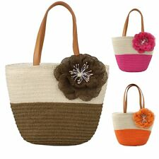 New Lady Straw Bags Woven Pure Shoulder Bag Women Summer Handbag Beach Bag