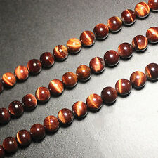 New 10Pcs Natural Top Red tigers eye Gemstone Round Beads 6mm 8mm 10mm 12mm 14mm