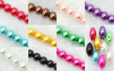 Wholesale Lots Glass Pearl Round Spacer Loose Beads 4mm/6mm/8mm 11 color choose