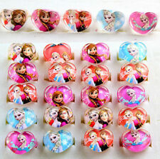 Lot Mixed Lovely Resin Cartoon Princess Children Kids Rings Party favors N-82
