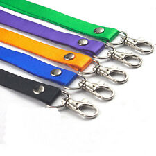 1x 2x Neck Strap Lanyard Safety Breakaway For ID Name Badge Keys Metal Clip Lot