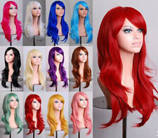 Women Cosplay Wigs Long Wave Curly Heat Resistant Full Wigs with Cap PO324-336