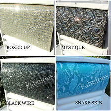 PATTERNED Glitter Fabric Material A4 Sheet 30cm x 21 cm