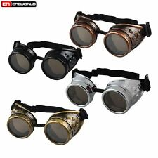 Windproof Steampunk Cyber GOGGLES Welding Punk Gothic Cosplay Vintage Glasses