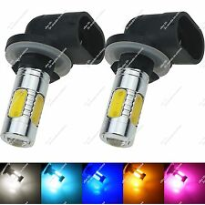 Pair 881 H27W 5 COB LED Indicator Light Fog Lamp Foglight Tail Bulb Auto ZH651
