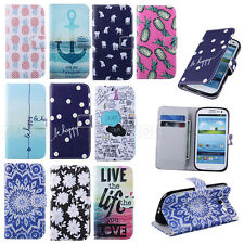 Card Clip Wallet Flip Leather Stand Case Cover For Samsung Galaxy SIII S3 i9300