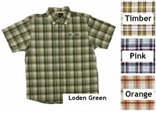 NWT Men's Browning Performance Plaid Button Down Short Sleeve Shirt Size S L XL