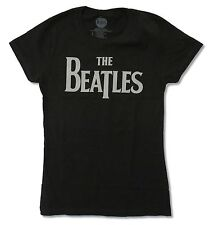 "THE BEATLES ""CLASSIC LOGO"" BABYDOLL T-SHIRT - NEW JUNIORS ROCK N ROLL BAND MUSIC"