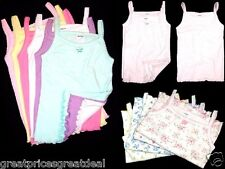 4pk Girls Spaghetti Straps MGM Tank Tops Undershirts Toddler Preteen Size: 1~12