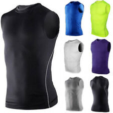 2015 Men's Sports Compression Base Layers Tops Tights Sleeveless Shirts Athletic
