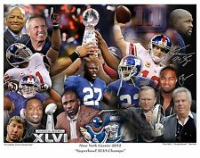 NEW YORK GIANTS SUPER BOWL XLVI CHAMPIONS AUTOGRAPH REPRINTS 11x14 ELI MANNING