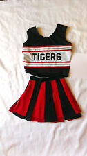 Tigers Red Black Cheerleader Uniform Carnival Halloween Costume