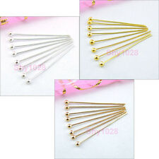 Ball Head Pins,15mm,20mm,25mm,30mm,Silver,Gold,Champagne Gold R5056
