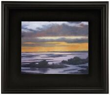 """3"""" WIDE CLASSIC MODERN PHOTO PICTURE PAINTING FRAME PLEIN AIR WOOD BLACK LEAF ++"""