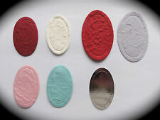 Cardmaking & Craft Embellishment Toppers 25 x OVAL - Large or Small Available