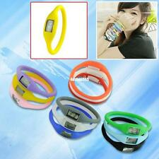 Cute Lightweight Negative Ion Sports Jelly LED Wrist Watch Wristwatch Bracelet