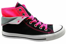 Converse Chuck Taylor All Star Two Fold Womens Hi Top Trainers Black 547229C D64