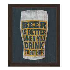 Click Wall Art Beer is Better When You Drink Together Framed Graphic Art
