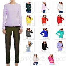 CCC Winter Real Cashmere Unisex Jumper Womens Plain Wool Top Comfy Sweater Size