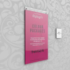 Wall Poster Displays Menu Holder Leaflet Shop Sign Clear Acrylic & PVC