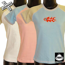 SALTROCK 'RAGLAN' WOMENS T-SHIRT LADIES TOP PINK WHITE BLUE 8 10 12 BNWT RRP £20