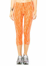 adidas Women's Ultimate Fit Cropped Tights Run Gym Yoga Fitness - Orange