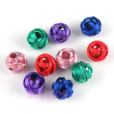 10Pcs Metal Winding Round Beads DIY Findings 8mm,5Colors-1 Or Mixed R5109