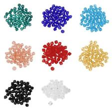 Wholesale 50PCS Bicone Crystal Glass Loose Beads 4mm Jewelry Crafts 8 Colors