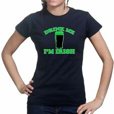 Drink Me Irish Stout Paddys St Patricks Day Ladies T shirt Funny Tee T-shirt Top