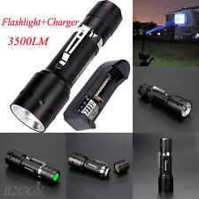 3500LM 18650 CREE XML T6 LED Zoomable Bronze Flashlight Torch Lamp&18650 Charger