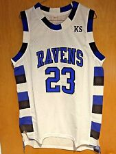 One Tree Hill Nathan Scott #23 Ravens White Basketball Jersey S, M, L, XL, 2XL