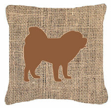 Caroline's Treasures Chow Chow Burlap Indoor/Outdoor Throw Pillow