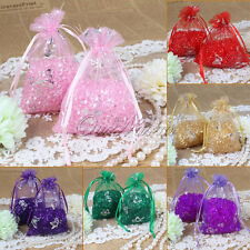 New 200 Butterfly Organza Wedding Party Good Favor Gift Candy Pouch Bags 9X12cm