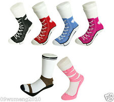 men women Silly Sock Sneaker Socks Cotton Converse Shoe Trainer Novelty cute