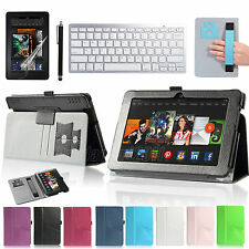 Bluetooth Wireless Keyboard + PU Leathe Case For Amazon Kindle Fire HDX 7'' 2013