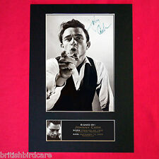 JOHNNY CASH Mounted Signed Photo Reproduction Autograph Print A4 85