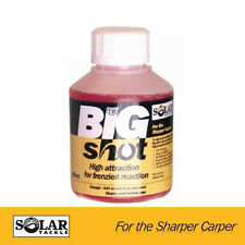 SOLAR CARP FOOD BIG SHOT BAIT DIP, SOAK, SPLASH & ADDITIVE 250ml ALL FLAVOURS