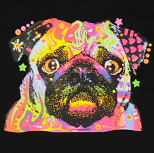 Kids Pug Dog Neon T-Shirt Unisex Children to Adult Cute Youth Junior boys Puppy