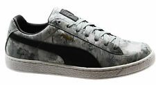 Puma Basket Classic Camo Mens Trainers Grey Camouflage Lace Up 357368 01 D43