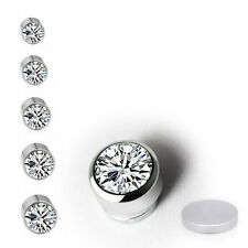 New Gift CLIP ON Magnetic DIAMANTE CRYSTAL RHINESTONE EARRINGS SIZE 3/4/5/6/7MM