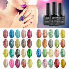 Elite99 Glitter Bling UV LED Soak Off Gel Nail Polish Nail Art Top Base Coat New