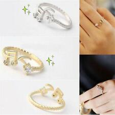Fashion Lovely Cute Sweet Music Notes Thread Rhinestone Ring Rings Gold/SilverJ