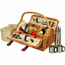 Picnic At Ascot Sussex Picnic Basket with Coffee Flask for Two