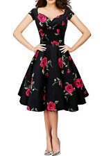 SALE 'Ruby' Vintage Infinity 1950's Floral Full Circle Rockabilly Swing Dress
